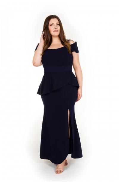 SALMA NAVY wieczorowa suknia plus size