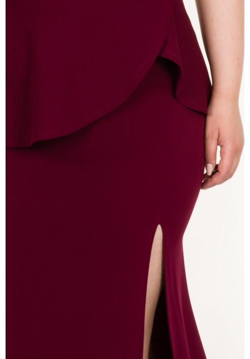 SALMA WINE wieczorowa suknia plus size