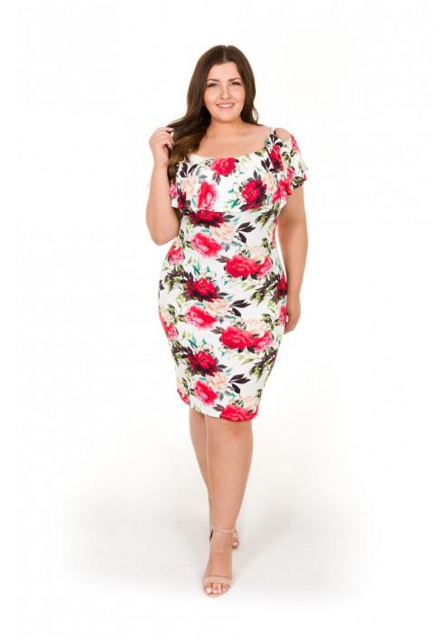 PALMA Sukienka hiszpanka w kwiaty