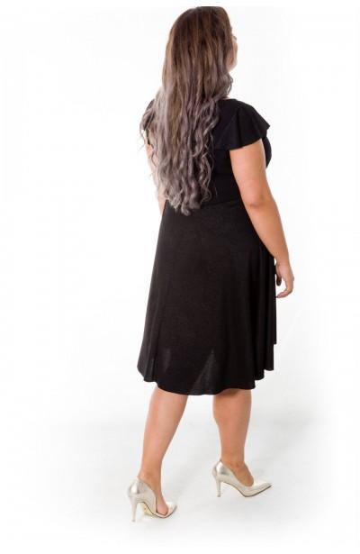 KELLY sukienka z falbankowymi rękawami