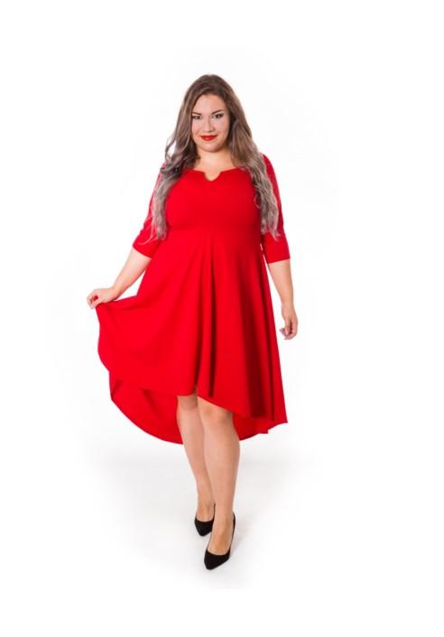 c452e9847e STELLA RED czerwona asymetryczna sukienka plus size od 20inLove