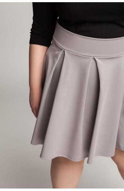 SYLWIA GRAY rozkloszowana spódnica plus size