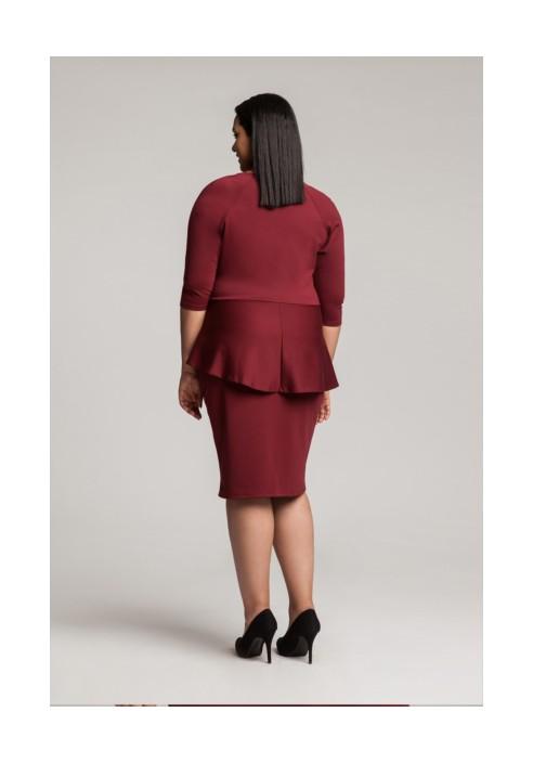 DIANE II WINE sukienka z kopertowym dekoltem