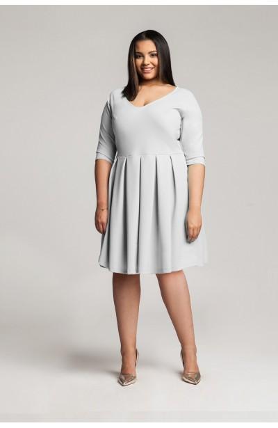ROSA GRAY rozkloszowana sukienka plus size