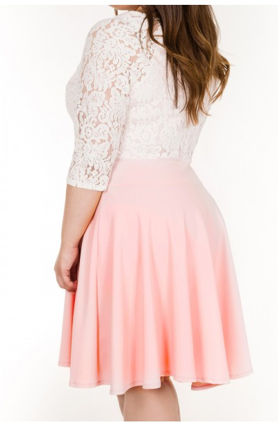Sukienka WHITE PEARL z koronką