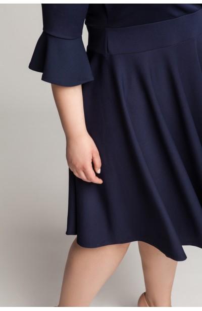 ZOE NAVY wizytowa sukienka z falbaną