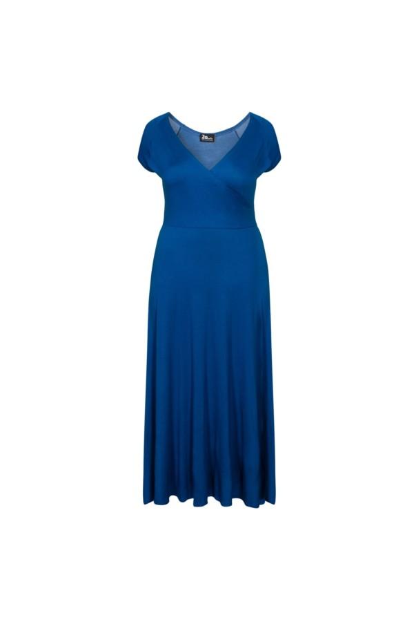 OTYLIA BLUE długa sukienka na lato