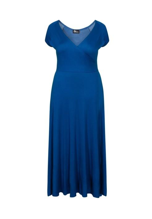 OTYLIA BLUE długa sukienka plus size na lato