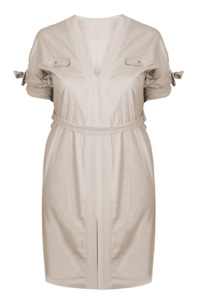 SAFARI minimalistyczna sukienka plus size