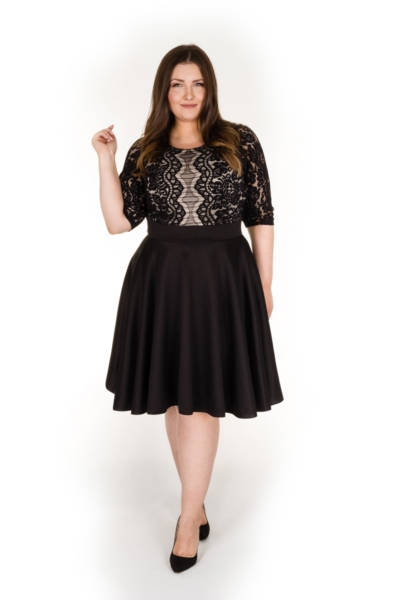 BLACK PEARL elegancka sukienka z koronką