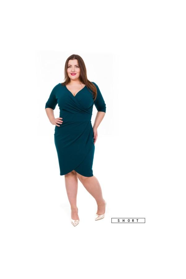 MONIQUE EMERALD SHORT dopasowana sukienka