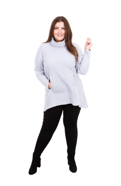 STANFORD GRAY bluza z półgolfem