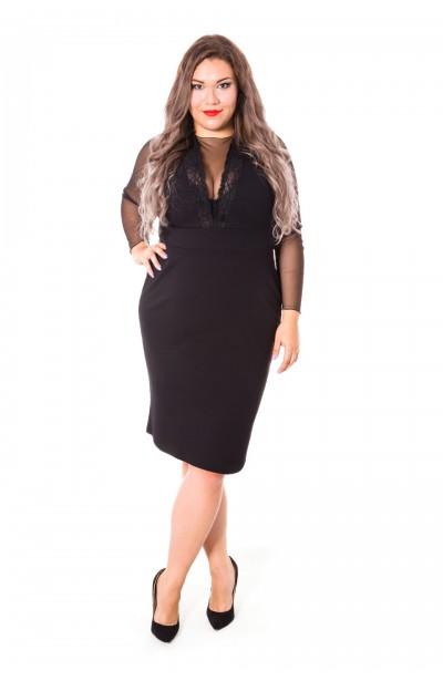 LEAH BLACK sukienka z siateczką