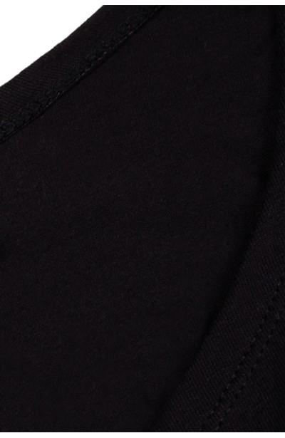 MIAMI BLACK modny t-shirt z wiązaniem