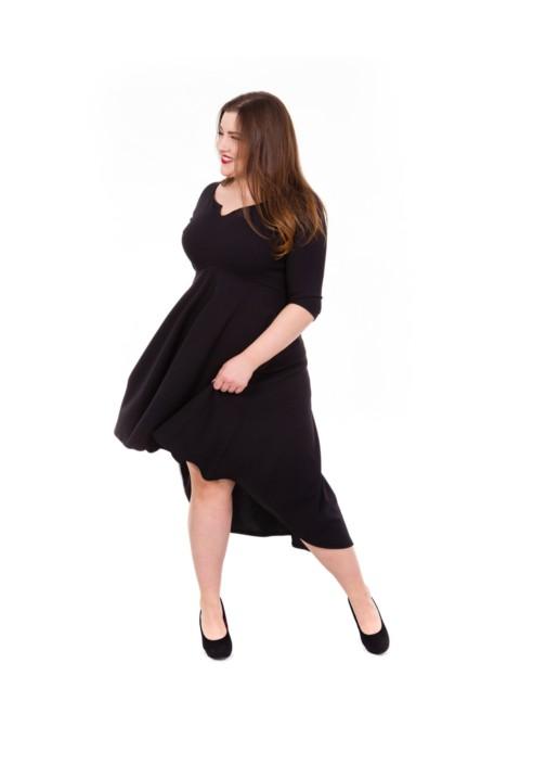 STELLA BLACK asymetryczna sukienka plus size