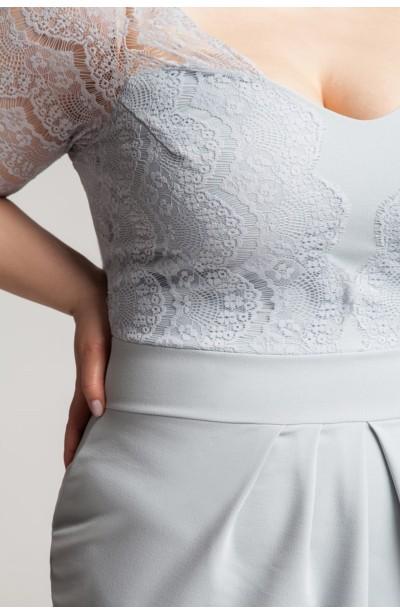 CARMEN GRAY romantyczna sukienka z koronką