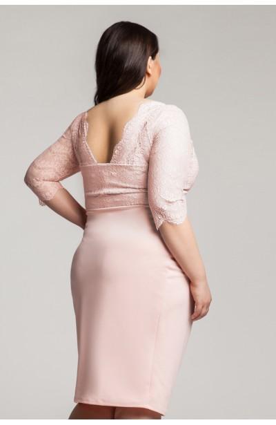 CARMEN PEACH romantyczna sukienka z koronką