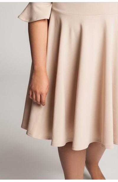 ZOE NUDE wizytowa sukienka plus size z falbaną