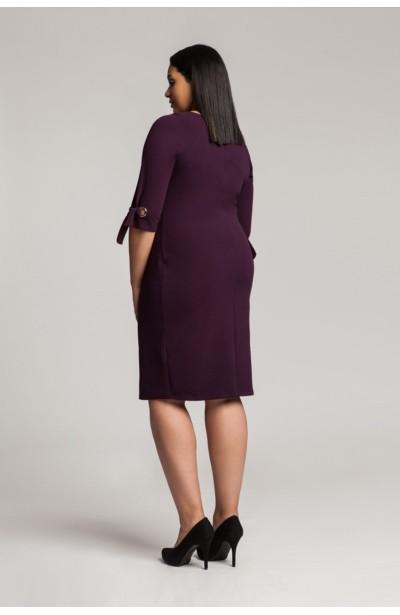 SHELBY VIOLET modna taliowana sukienka plus size