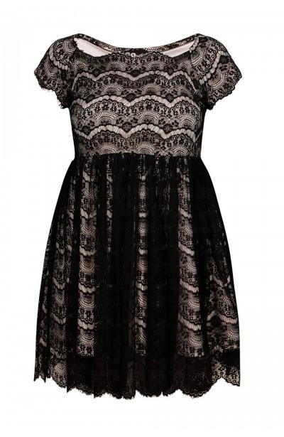 PERLA II ECRU koronkowa sukienka plus size