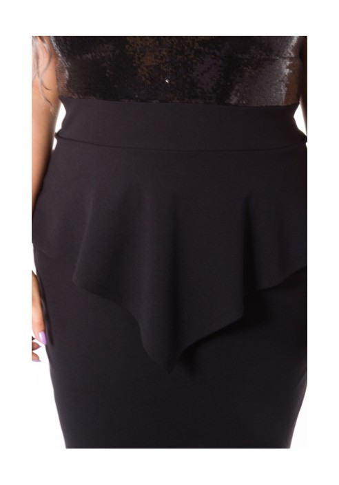 HARPER BLACK sukienka z cekinami