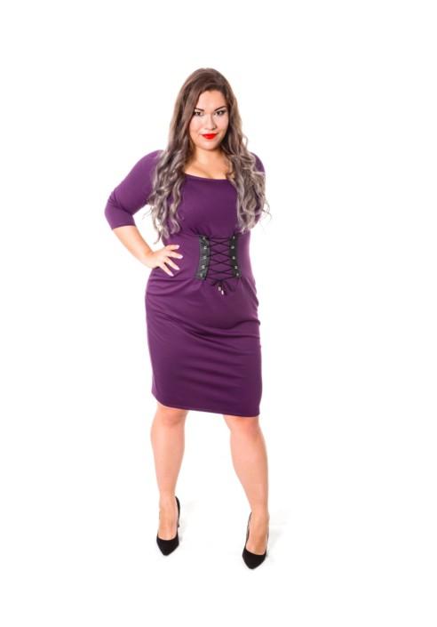 ELSA VIOLET taliowana sukienka plus size