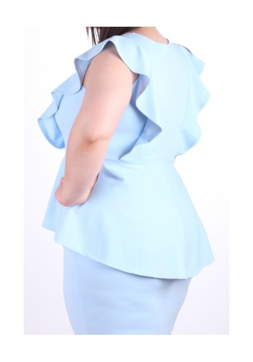 BIRDY BLUE taliowana sukienka plus size
