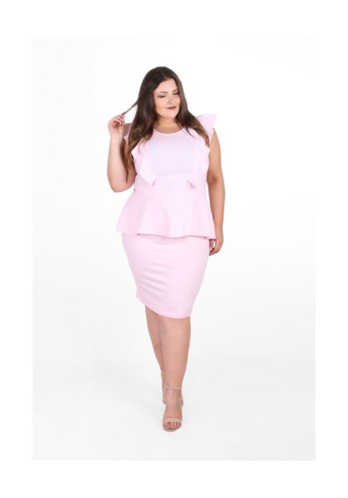 BIRDY PINK taliowana sukienka plus size