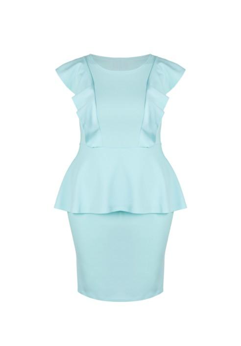 BIRDY MINT wyszczuplająca sukienka plus size