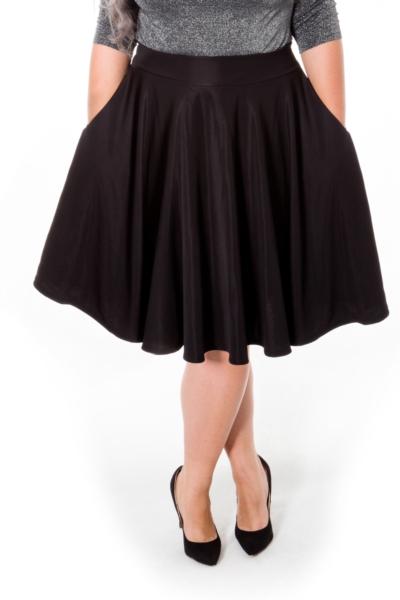 MISTY BLACK spódnica plus size z kieszeniami