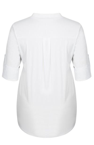 RENEE WHITE minimalistyczna koszula plus size