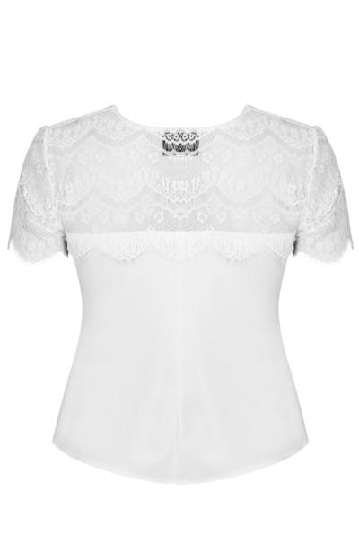 VIOLA WHITE elegancka bluzka plus size z koronką