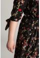 WIND BLACK kwiecista sukienka plus size