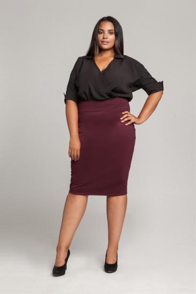 WING BLACK koszulowe body plus size