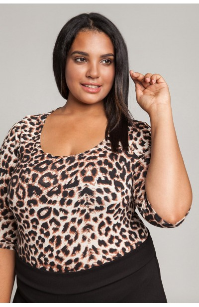 AFRICA body plus size w cętki