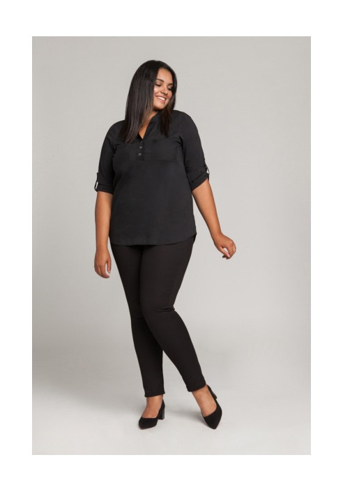 RENEE BLACK minimalistyczna koszula plus size