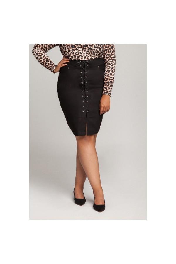 ROSIE BLACK sznurowana spódnica plus size
