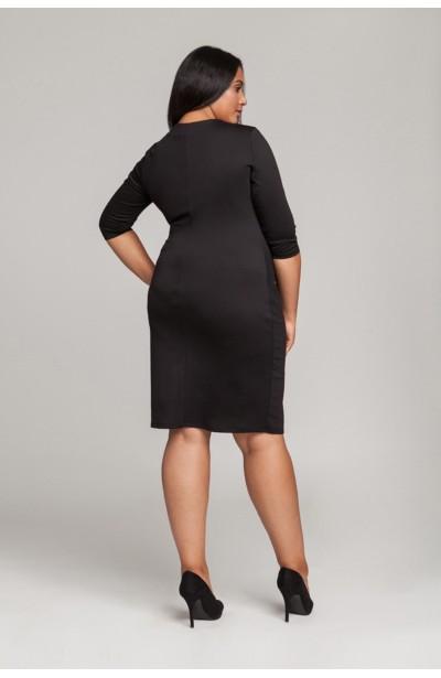 ARIA BLACK ołówkowa sukienka plus size