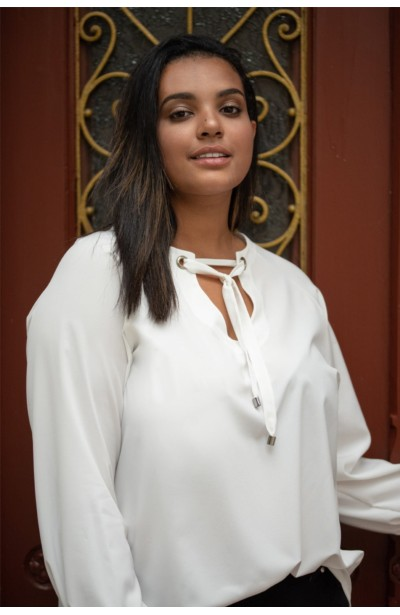 MELODY WHITE elegancka koszula plus size