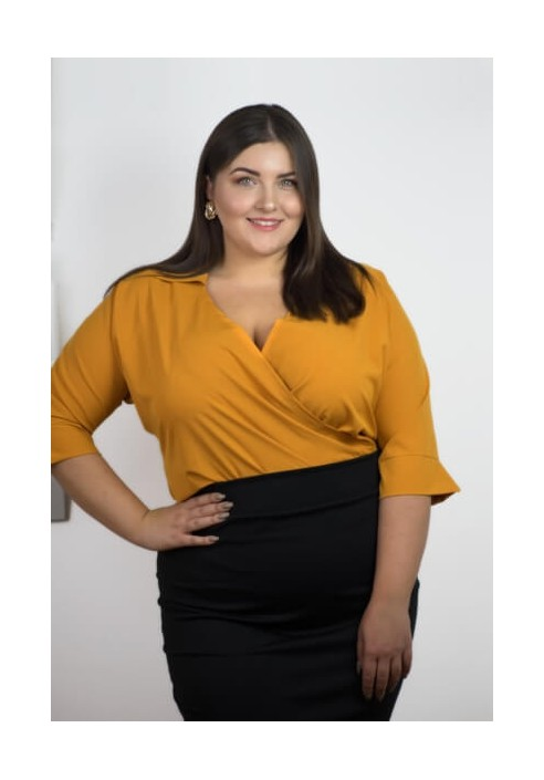 WING HONEY koszulowe body plus size