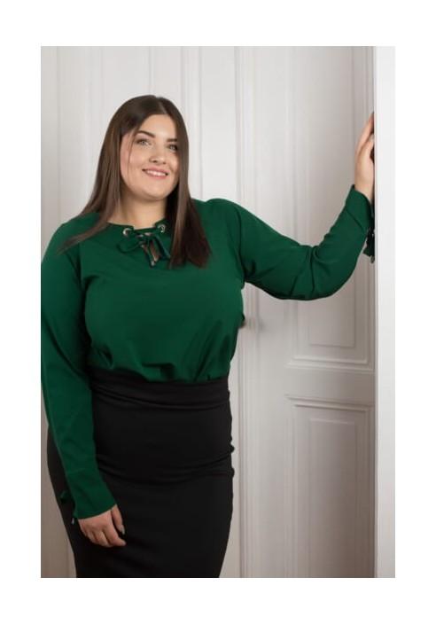 MELODY EMERALD elegancka koszula plus size