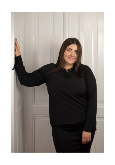 MELODY BLACK elegancka koszula plus size