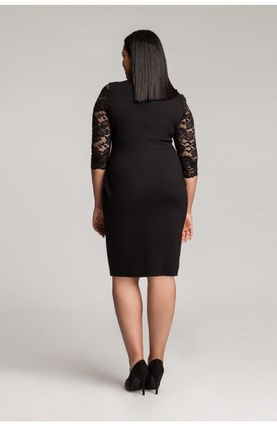 MEGAN BLACK seksowna sukienka plus size z koronką