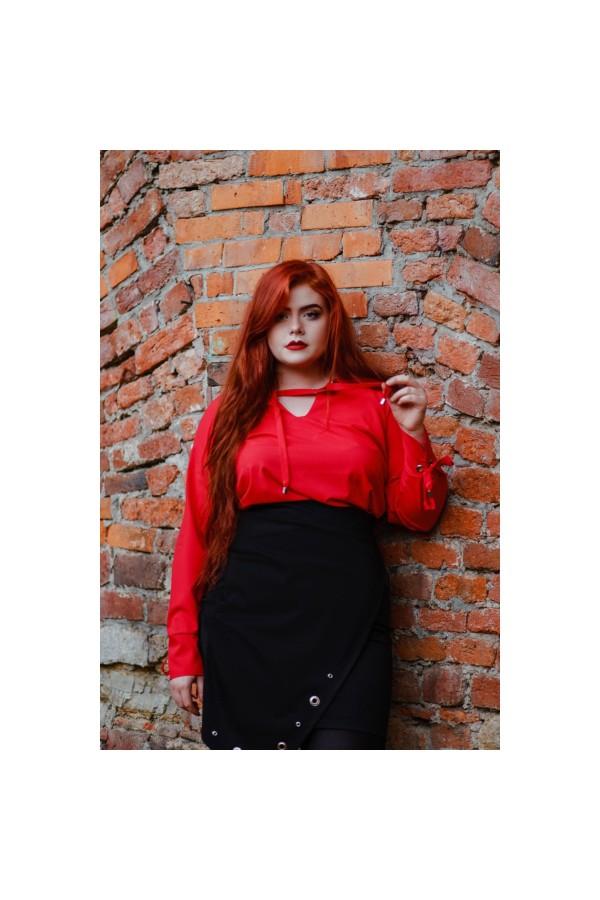 MELODY RED elegancka koszula plus size