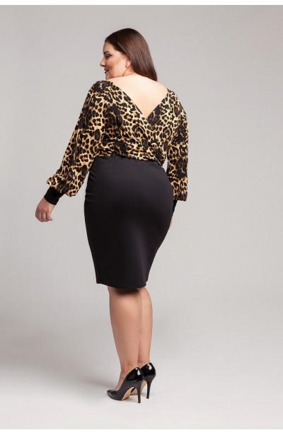 IMANI BLACK elegancka sukienka plus size z koronką