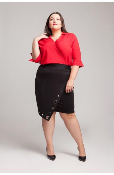 GINA BLACK asymetryczna spódnica plus size