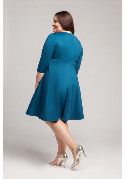 SIENNA TURKUS elegancka sukienka plus size