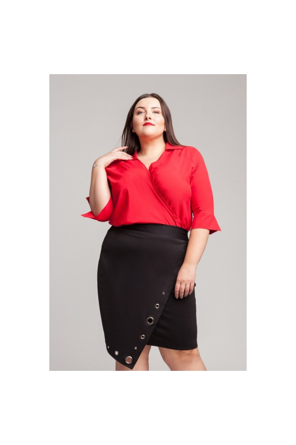 WING RED koszulowe body plus size