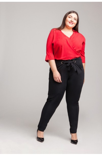 WING RED koszulowe body plus size