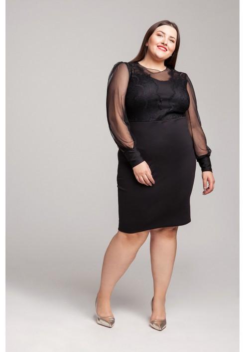 SUSIE BLACK karnawałowa sukienka plus size